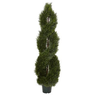 Nearly Natural Pond Cypress Spiral Topiary UV Resistant