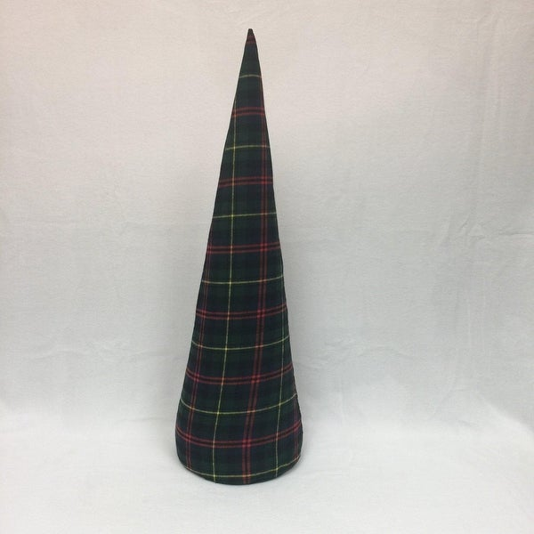 "30"" Green Plaid Inflatable Christmas Tree Shaped Ornament"