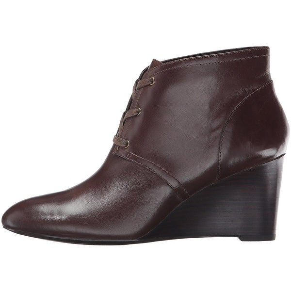 LAUREN by Ralph Lauren Womens Tamia Leather Closed Toe Ankle Fashion Boots