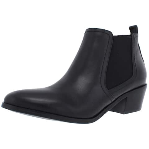 David Tate Womens Maxie Chelsea Boots Leather Ankle - Black - 7.5 Wide (C,D,W)