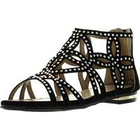 Forever Tory63 Kids Bling Rhinestone Four-Leaf Clover Cut Out Strap Gladiator Dress Sandal Shoes