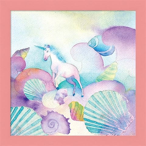 A.V. Art 'Unicorn Shells' Framed Art
