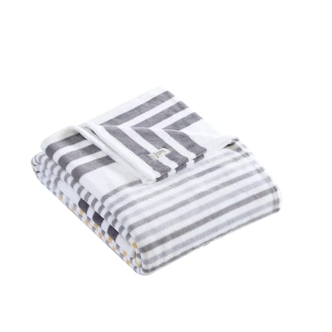 ED Ellen DeGeneres Vibrant Stripes Plush Throw Blanket