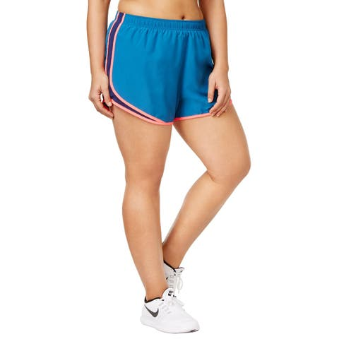 Nike Women's Plus Size Tempo Running Fitness Shorts Binary Blue Size Extra Large - X-Large