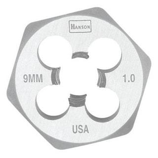 "Hanson 9736 Hexagon Metric Die, 1"""