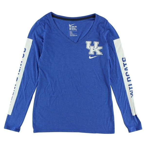quality design 8d20f 1fae7 Nike Womens Kentucky Wildcats Long Sleeve Tri Blend Modern T Shirt Blue -  Blue White