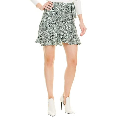 Veronica Beard Ruffled Silk Mini Skirt
