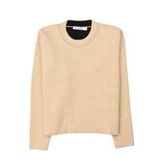 Dior Women's Ivory Cashmere Blend Dior Sauvage Sweater
