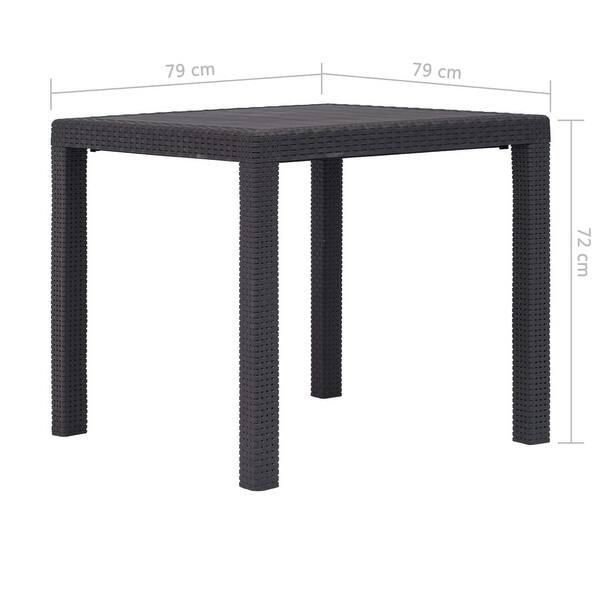 Superb Shop Vidaxl Garden Table 31 1 Plastic Rattan Look Camping Dailytribune Chair Design For Home Dailytribuneorg