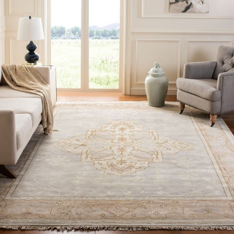 Safavieh Couture Hand-knotted Oushak Richtsje Traditional Oriental Wool Rug with Fringe