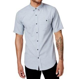 Ezekiel Light Blue Mens Size XL Button Down Short-Sleeve Shirt