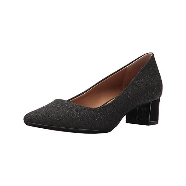 Calvin Klein Womens Genoveva Block Heels Pointed Toe Dress