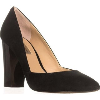 I35 Eloraa Block-Heel Pumps, Black
