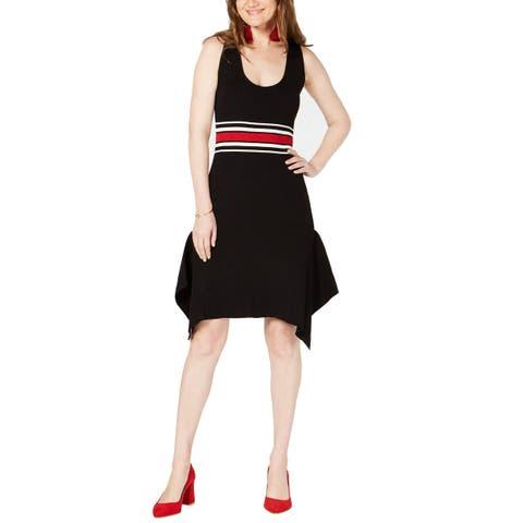 I.N.C. Women's Sleeveless Sweater Dress, Black (L)