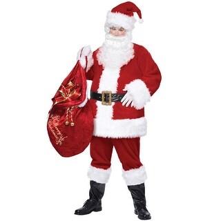 California Costumes Deluxe Santa Suit Adult Costume - Red