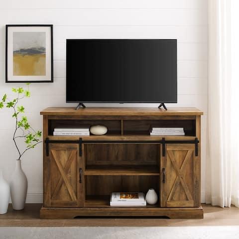 The Gray Barn Wind Gap Sliding Barn Door TV Stand Console