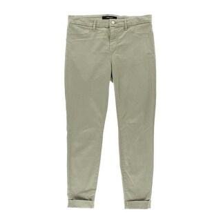 J Brand Womens Anja Sateen Cuffed Cropped Pants