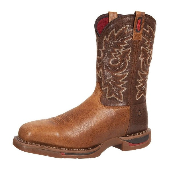 "Rocky Western Boots Mens 11"" Long Range Carbon Toe Brown"