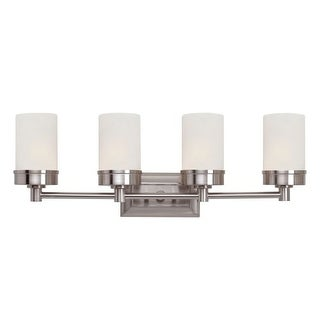 Trans Globe Lighting 70334 4 Light Bath Bar with Frosted Shade