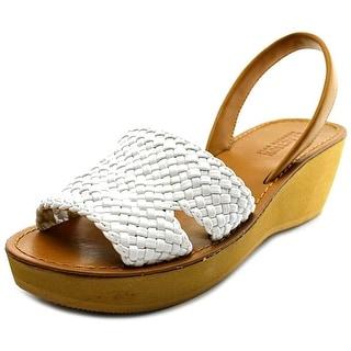 Kenneth Cole Reaction Fine Time Women Open-Toe Synthetic White Slingback Sandal