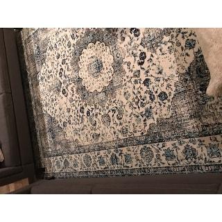 Safavieh Evoke Annabel Vintage Shabby Chic Grey / Blue/ Ivory Rug - 8' x 10'