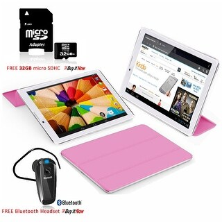 Indigi® 7inch Factory Unlocked 2-in-1 Android 4.4 Smartphone + TabletPC w/ Built-in Smart Cover + Bundle Included(Pink) - Pink