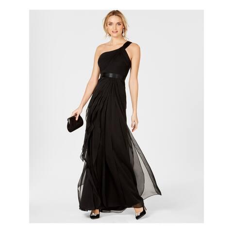 ADRIANNA PAPELL Black Sleeveless Full Length Dress Size 6