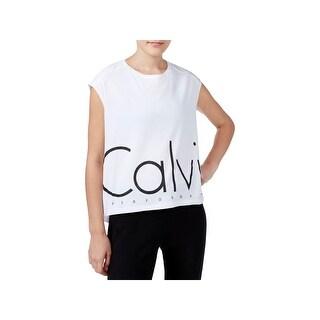 Calvin Klein Performance Womens T-Shirt Logo Sleevless