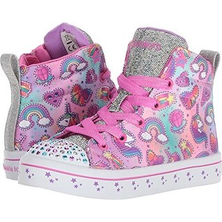 Skechers Kids Girls' Twi-Lites-Princess Party Sneaker, Multi, 4 Medium Us Big Kid