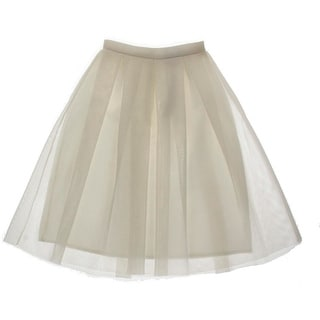 Aqua Womens Juniors Mesh Lined A-Line Skirt