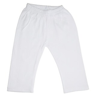 Bambini Baby Unisex White Cotton Interlock Open-Ankle Sweat Pants