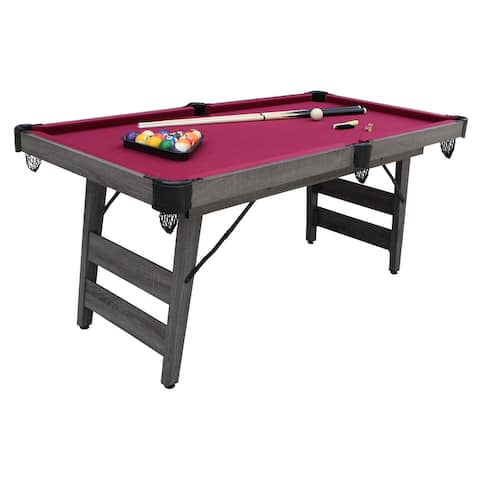 Hathaway 6-Ft Pendleton Portable Pool Table in Farmhouse Grey