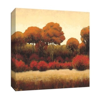 """PTM Images 9-152011  PTM Canvas Collection 12"""" x 12"""" - """"Autumn Forest II"""" Giclee Forests Art Print on Canvas"""