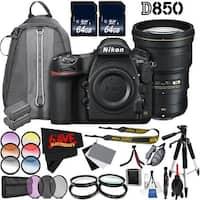 Nikon D850 DSLR Camera (Body Only) 1585 International Model + Nikon AF-S NIKKOR 300mm f/4E PF ED VR Lens Bundle