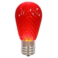 Club Pack of 25 LED Red Replacement Christmas Light Bulbs - E26 Base