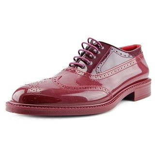 Vivienne Westwood 3150 Men Round Toe Leather Burgundy Oxford