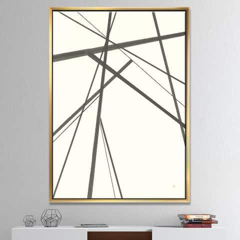 Designart 'minimalist black and white III' Transitional Framed Canvas