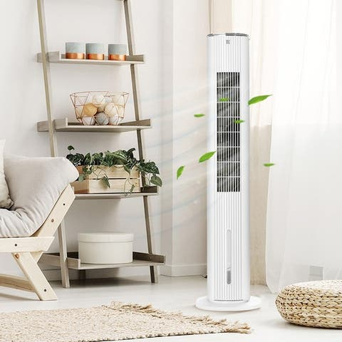 Tower Fan with Remote Control 3 Speed 12h Timer