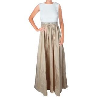 Aidan Mattox Womens Mix Media Prom Evening Dress