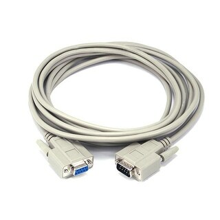 Monoprice 15ft Molded DB9 Male/Female Serial Cable