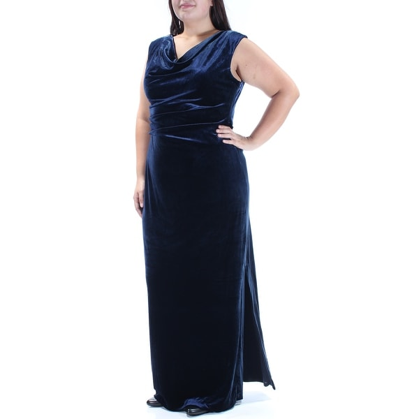 c3dfc60c85aa8 Shop Womens Navy Sleeveless Full-Length Sheath Party Dress Size  16 - Free  Shipping On Orders Over  45 - Overstock - 24057888