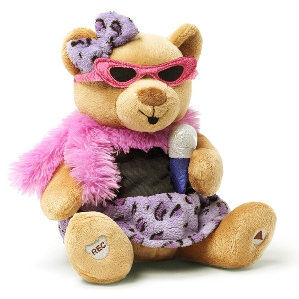 Gund You Rock Animated Plush Teddy Bear - multi-color