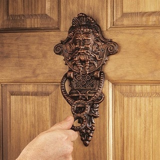Design Toscano Winthrop Manor Greenman Authentic Foundry Iron Door Knocker