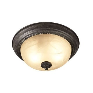 Woodbridge Lighting 31020 Calais 2 Light Burnish Bronze Flush Mount