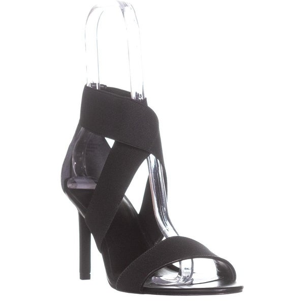 Marc Fisher Brooke Elastic Strap Dress Sandals, Black - 9.5 us