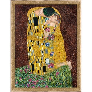 Gustav Klimt 'The Kiss' (Full view) Hand Painted Oil Reproduction