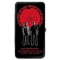 Supernatural Sam & Dean Winchester Pose Driver Picks The Music Shattered Hinge Wallet - One Size Fits most