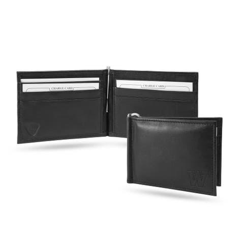 "4"" Black College Washington Huskies Money Clip Bi-Fold Wallet"