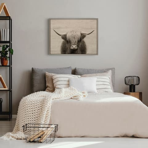 Kate and Laurel Blake Cow Printed Wood by The Creative Bunch Studio