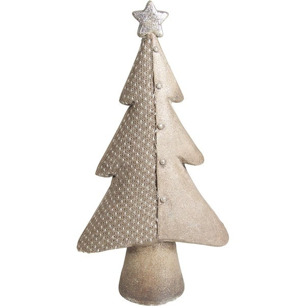 "15"" Brown Textured Eco-Friendly Christmas Table Top Tree (Pack of 2)"